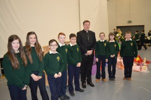 DSC_0017 - Bishop Francis with first years who did the mime on friendship