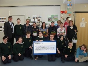 valerie lowry presenting cheque