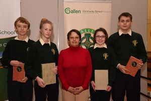 Mrs G Keena with second year award winners