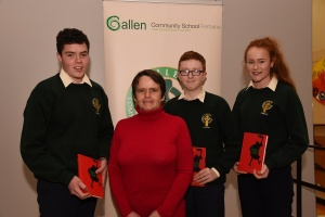 Mrs G Keena with second year award winners now third years