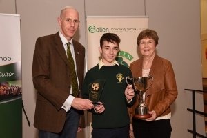 colin wren with Mrs Gavin and Mr Grennan from Ferbane Credit Union